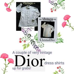 Very Vintage Long-Sleeve Dress Shirts by Dior